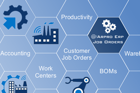 Arpro ERP Job Orders Management, Production software, Contracts and customers