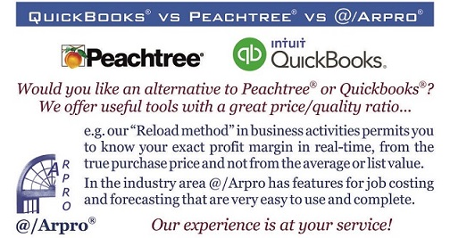 Peachtree vs QuickBooks vs @/Arpro