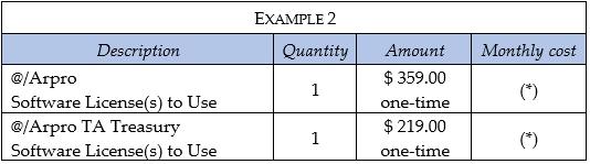 example of Software Arpro Treasury management